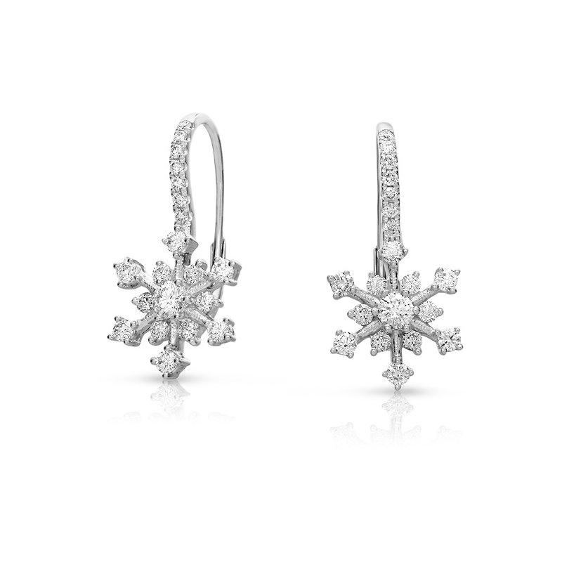 S. Kashi  & Sons White Gold Snowflake Earring