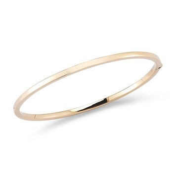 Oval Bangle &Ndash; 18K Rose Gold