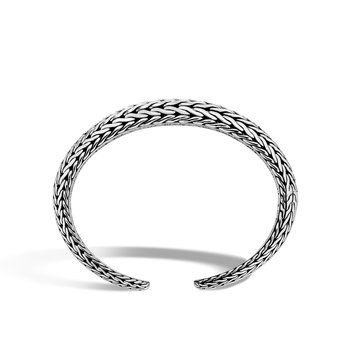 Classic Chain 12MM Graduated Kick Cuff in Silver