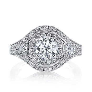 25220 Diamond Engagement Ring 0.68 ct tw