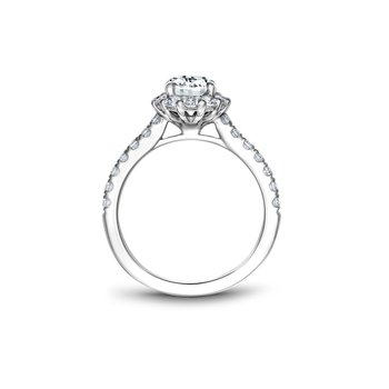 Oval Shaped Halo Engagement Ring