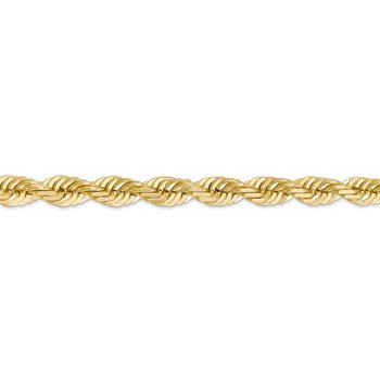 14K 7mm D/C Rope with Fancy Lobster Clasp Chain
