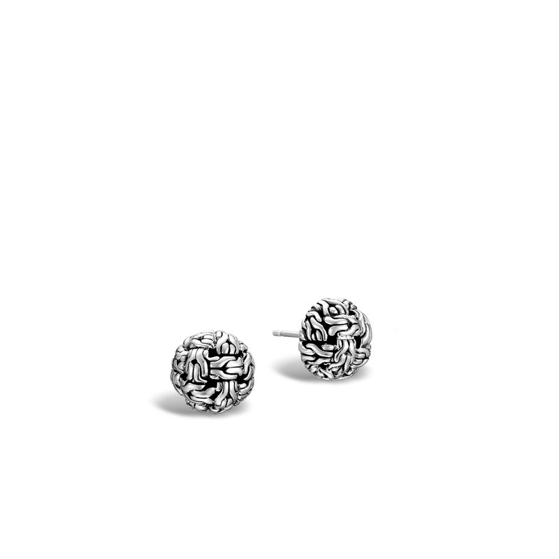 JOHN HARDY Classic Chain 12MM Stud Earring in Silver