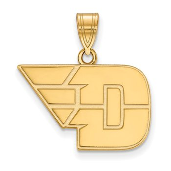 Gold University of Dayton NCAA Pendant