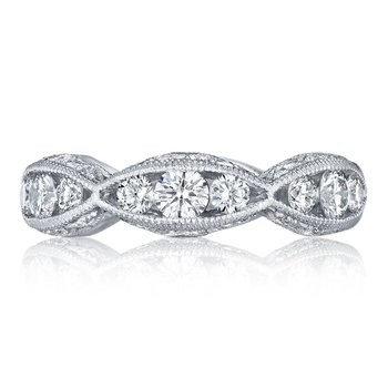 Classic Crescent Diamond Wedding Band