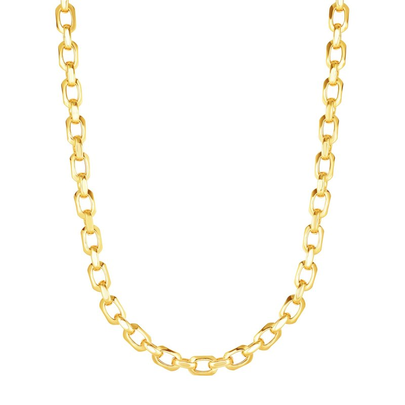 Royal Chain 14K Gold Polished Square Beveled Edge Link Chain