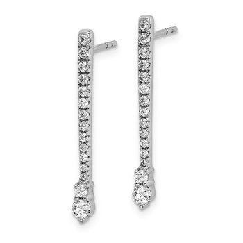 14k White Gold Diamond Fancy Earrings