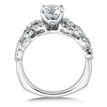 Diamond Engagement Ring Mounting in 14K White Gold (.41 ct. tw.)