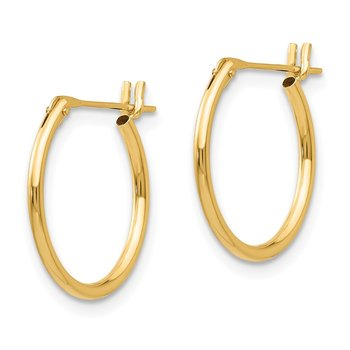 14k Madi K 1.25mm Hoop Earrings