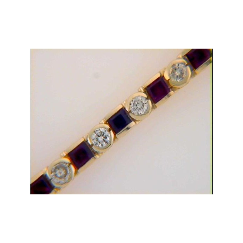 Briana Ruby & Diamond Bracelet