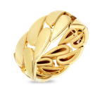 Roberto Coin 18KT GOLD WIDE GOURMETTE BANGLE
