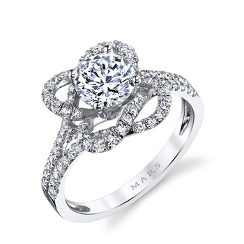 MARS 25668 Diamond Engagement Ring 0.56 Ctw.