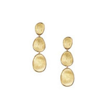 Lunaria Gold Small Triple Drop Earrings