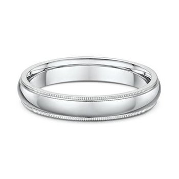 4mm Millgrain Wedding Band