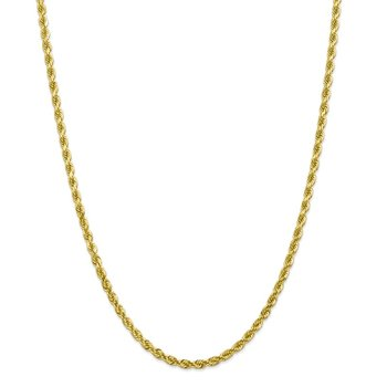 10k 4mm Diamond-cut Rope Chain