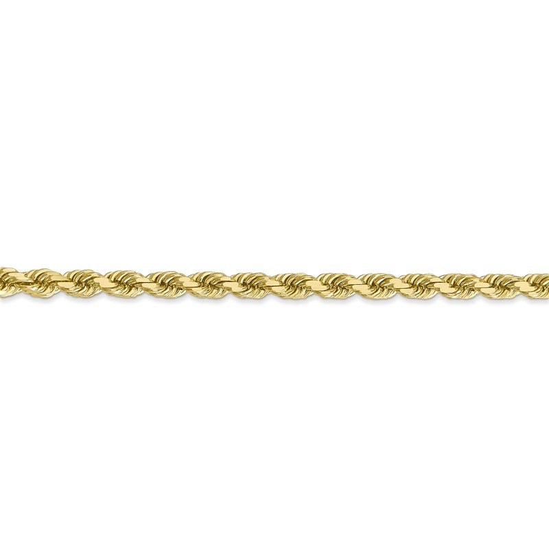 Quality Gold 10k 4mm Diamond-cut Rope Chain