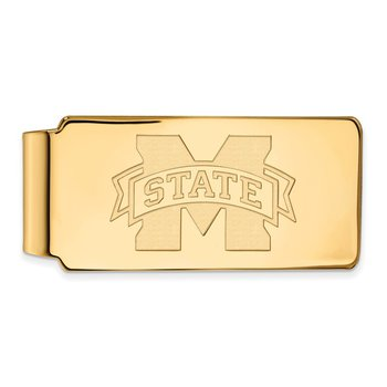 Gold-Plated Sterling Silver Mississippi State University NCAA Money Clip