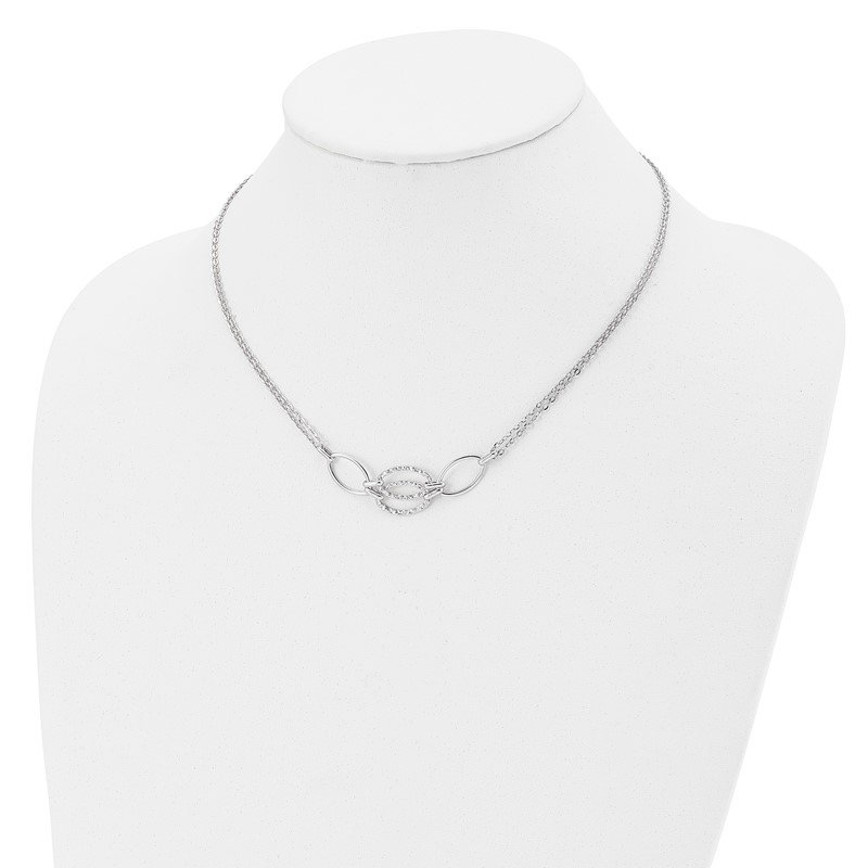 Leslie's Leslie's 14K White Gold Polished Double Strand Link Necklace