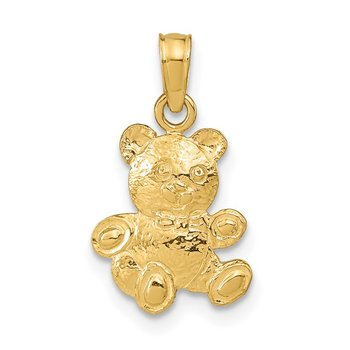 14K 2-D Teddy Bear Pendant
