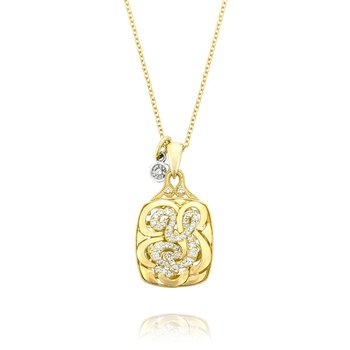 Petite Initial Pendant in Yellow Gold