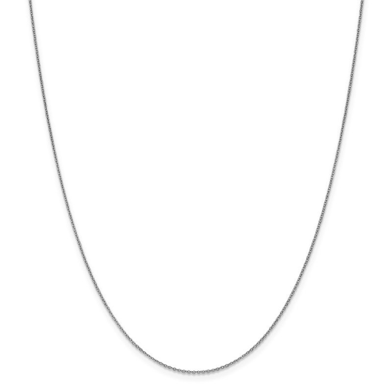 Leslie's Leslie's 10K White Gold 1.1 mm Flat Cable Chain