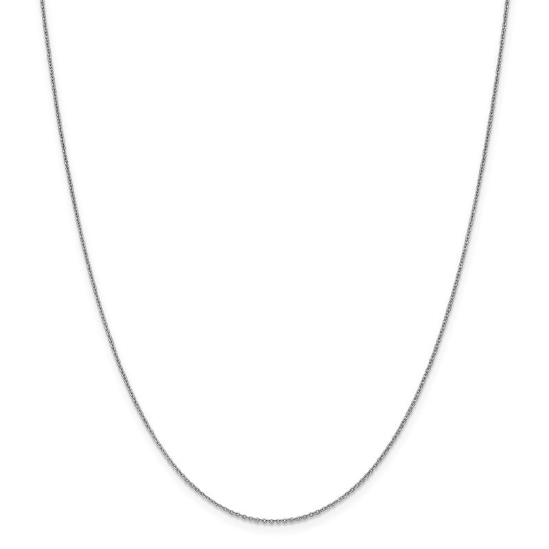 Leslie's Leslie's 10K White Gold 1.1mm Flat Cable Chain