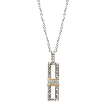 18kt and Sterling Silver Diamond Necklace