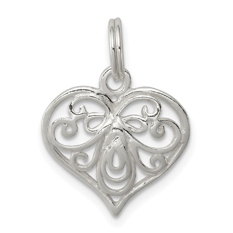 Quality Gold Sterling Silver Heart Charm