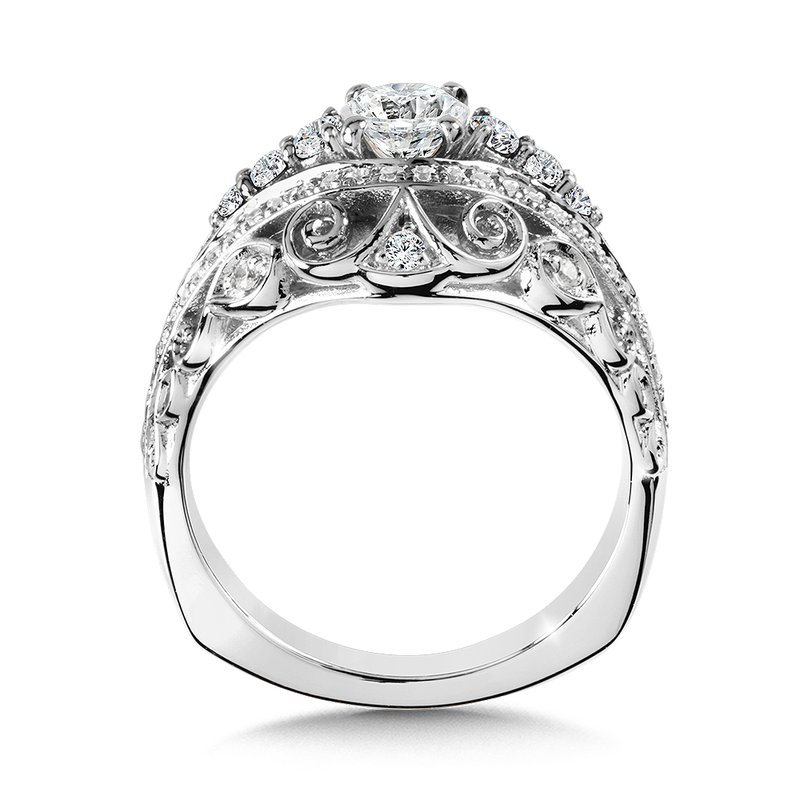 Valina Bridals Diamond Engagement Ring Mounting in 14K White/Rose Gold (.53 ct. tw.)