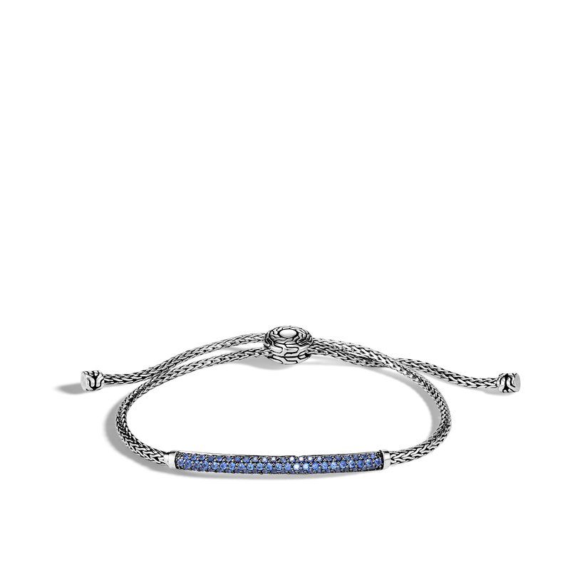 JOHN HARDY Classic Chain Station Pull Through Bracelet , Silver, Gemstone