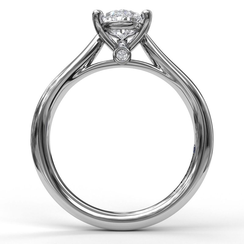 Fana Pear Shape Solitaire Engagement Ring