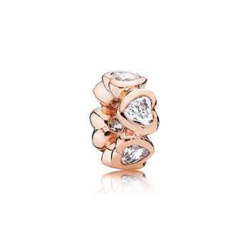 Space In My Heart Spacer, PANDORA Rose™ & Clear CZ