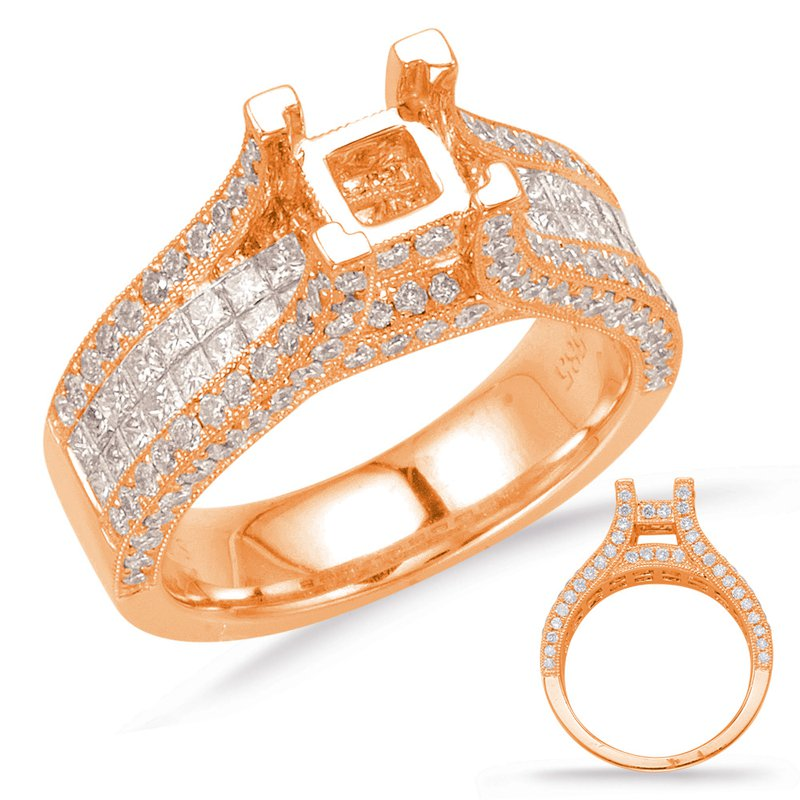 S. Kashi & Sons Bridal Rose Gold Enagement Ring