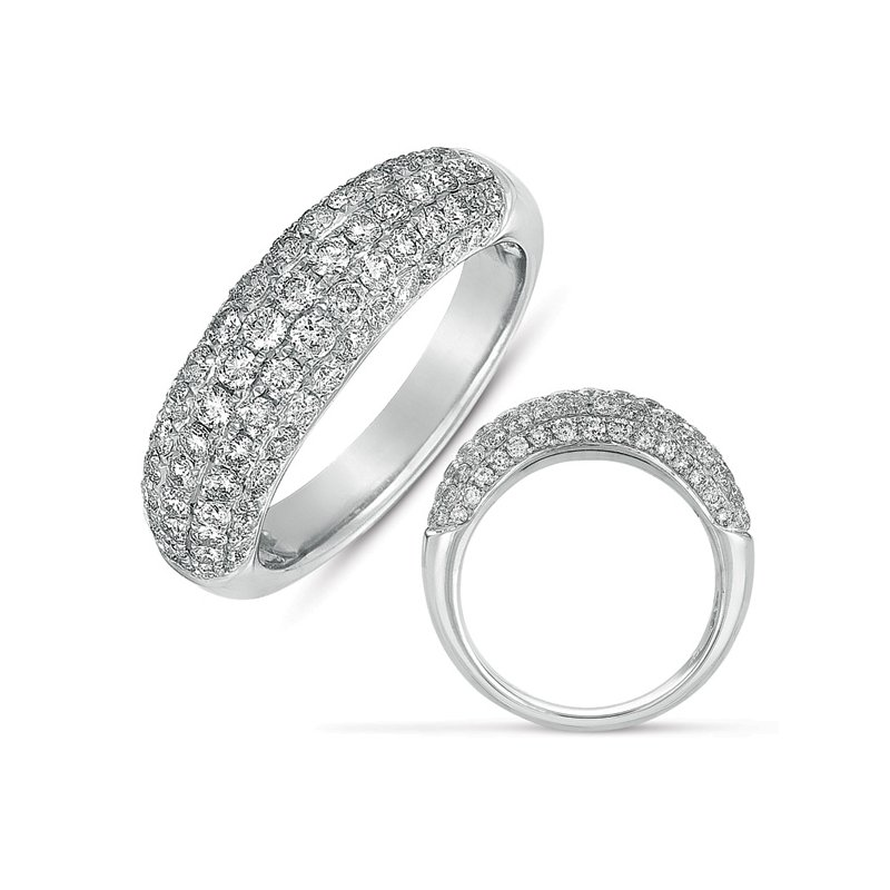 S. Kashi & Sons Bridal White Gold Micro Pave Band