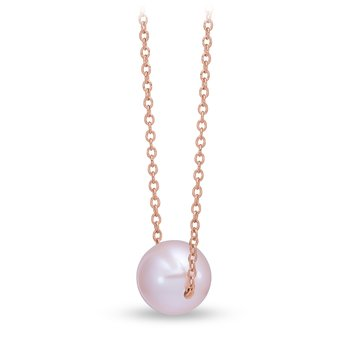 Rose Gold Floating Pink Pearl Pendant