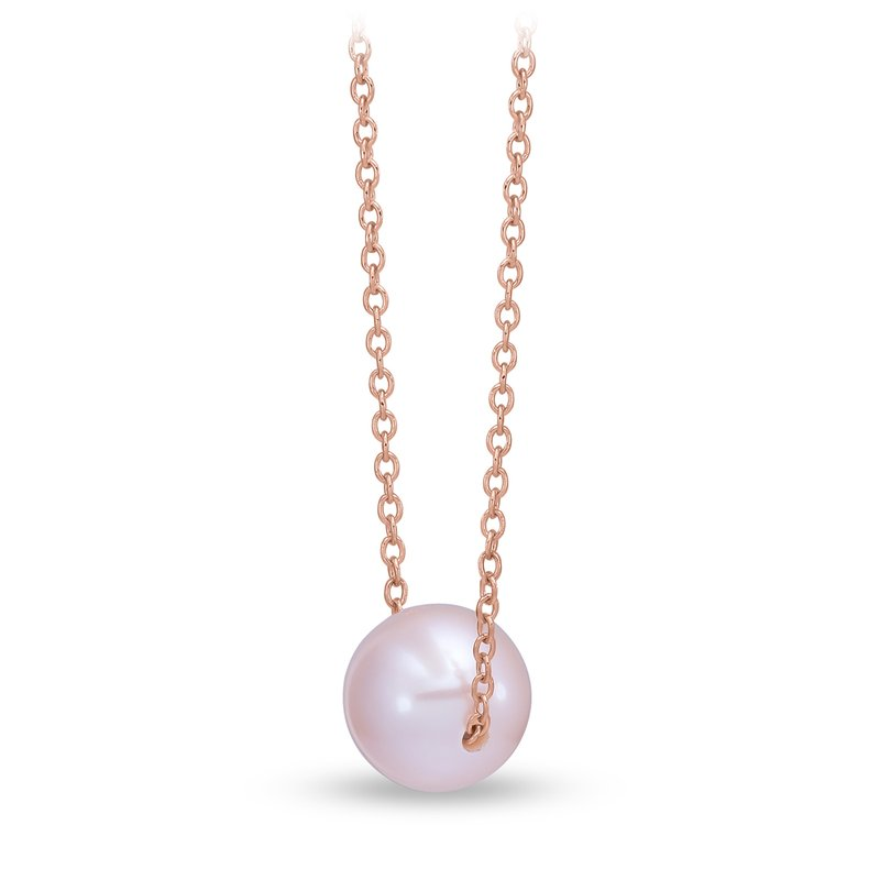 Mastoloni Pearls Rose Gold Floating Pink Pearl Pendant
