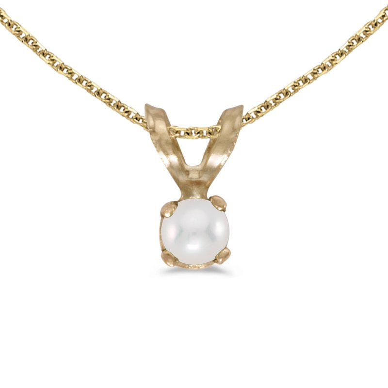 Color Merchants 14k Yellow Gold Pearl Pendant