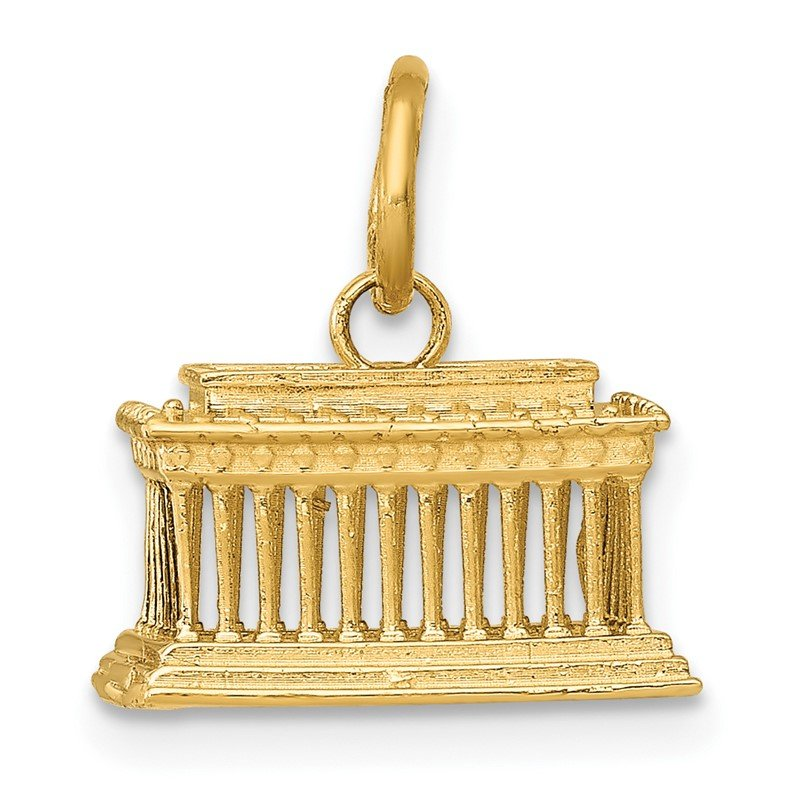 Quality Gold 14k Lincoln Memorial Charm