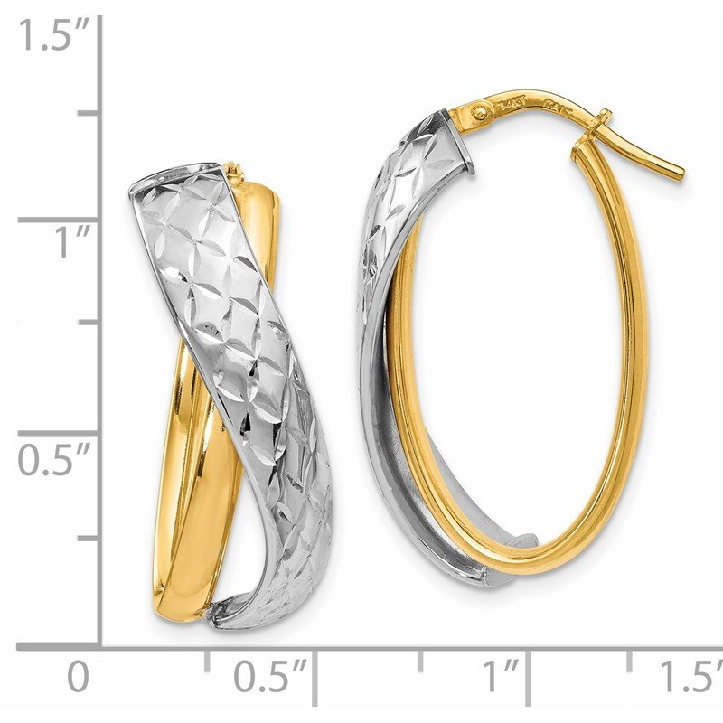 Leslie's Leslie's 14K Polished Two-tone Hoop Earrings