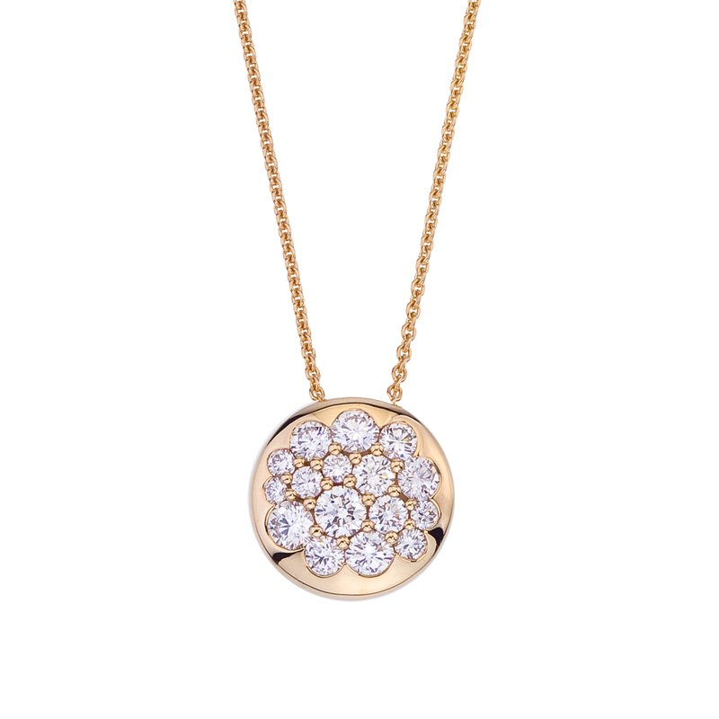 Mark Patterson Yellow Gold Diamond Tango Pendant