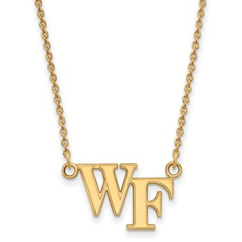 Gold Wake Forest University NCAA Necklace