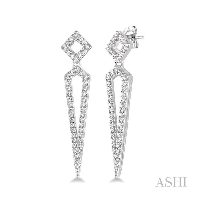 Barclay's Signature Collection DIAMOND LONG EARRINGS