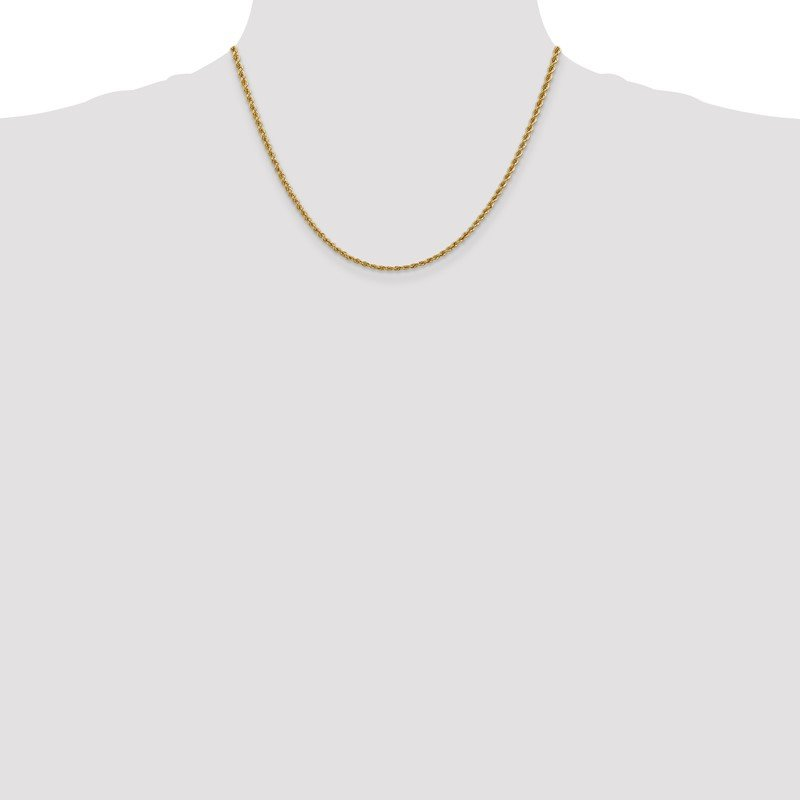 Quality Gold 14k 2.5mm Regular Rope Chain Anklet