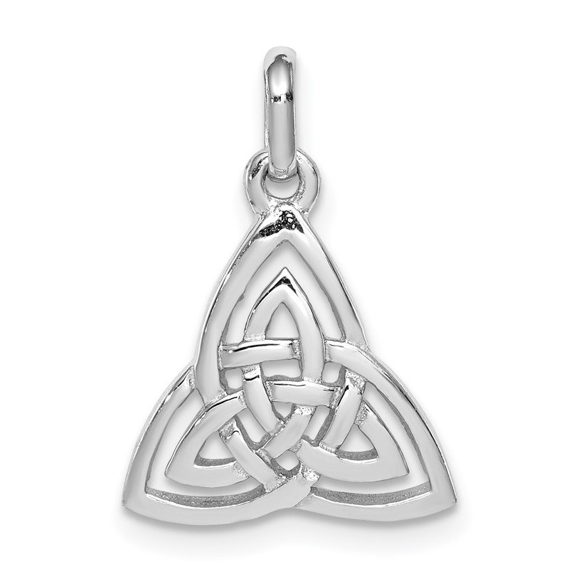 Quality Gold Sterling Silver Rhodium-plated Polished Celtic Symbol Pendant