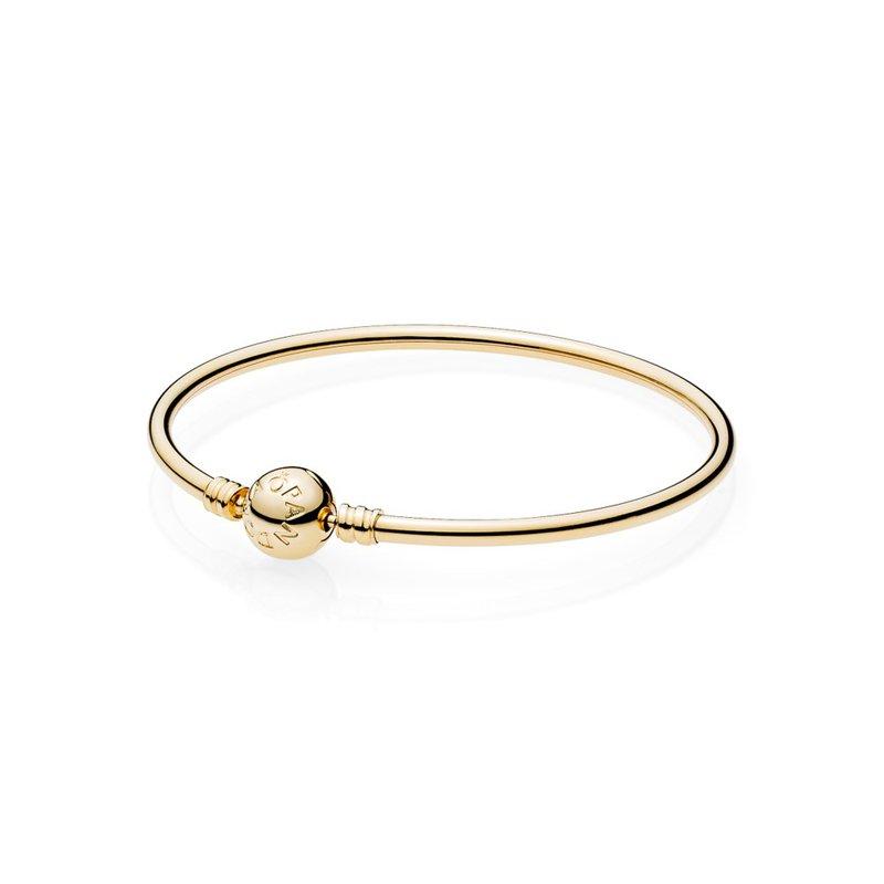 0738a7b06 Malsons Jewelers: PANDORA 14K Gold Bangle W/ Signature Clasp