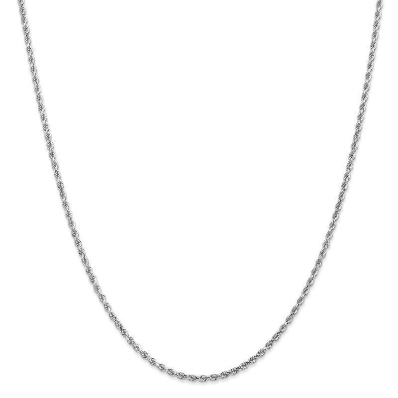 Leslie's Leslie's 14K White Gold 2mm Diamond-Cut Rope Chain Anklet