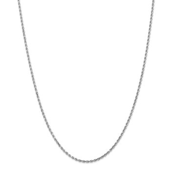 Leslie's 14K White Gold 2mm Diamond-Cut Rope Chain Anklet
