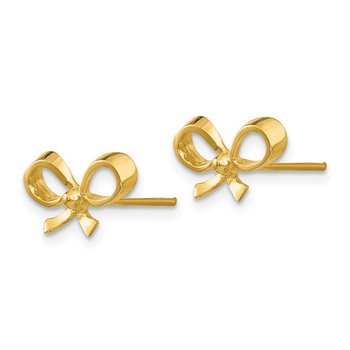 14k Bow Post Earrings