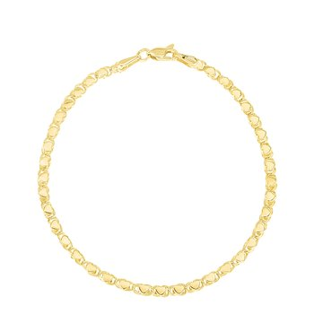 14K Yellow Gold Heart Chain