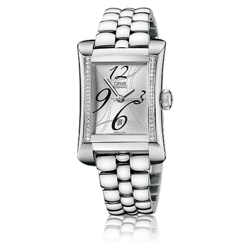 Oris Rectangular Date Diamonds